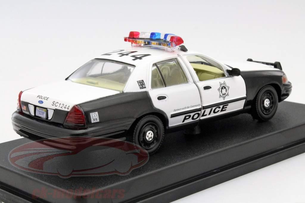 ck modelcars 86506 ford crown victoria police interceptor the hangover 2009 black white 1. Black Bedroom Furniture Sets. Home Design Ideas