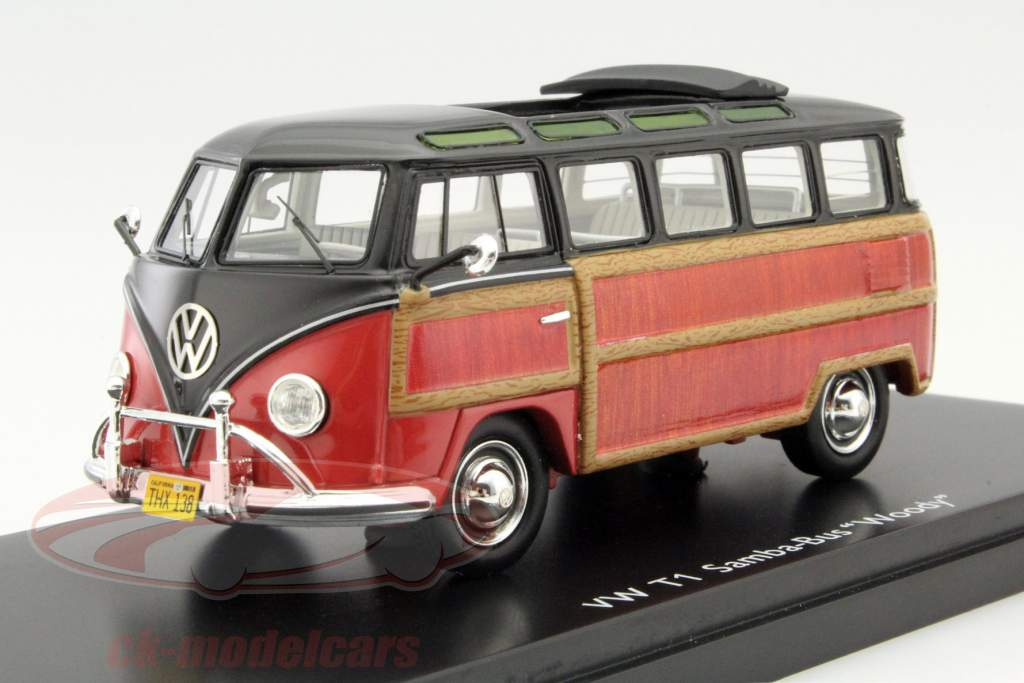 Ck modelcars 450894300 volkswagen vw t1 samba bus woody black volkswagen vw t1 samba bus woody black brown 143 schuco thecheapjerseys Choice Image