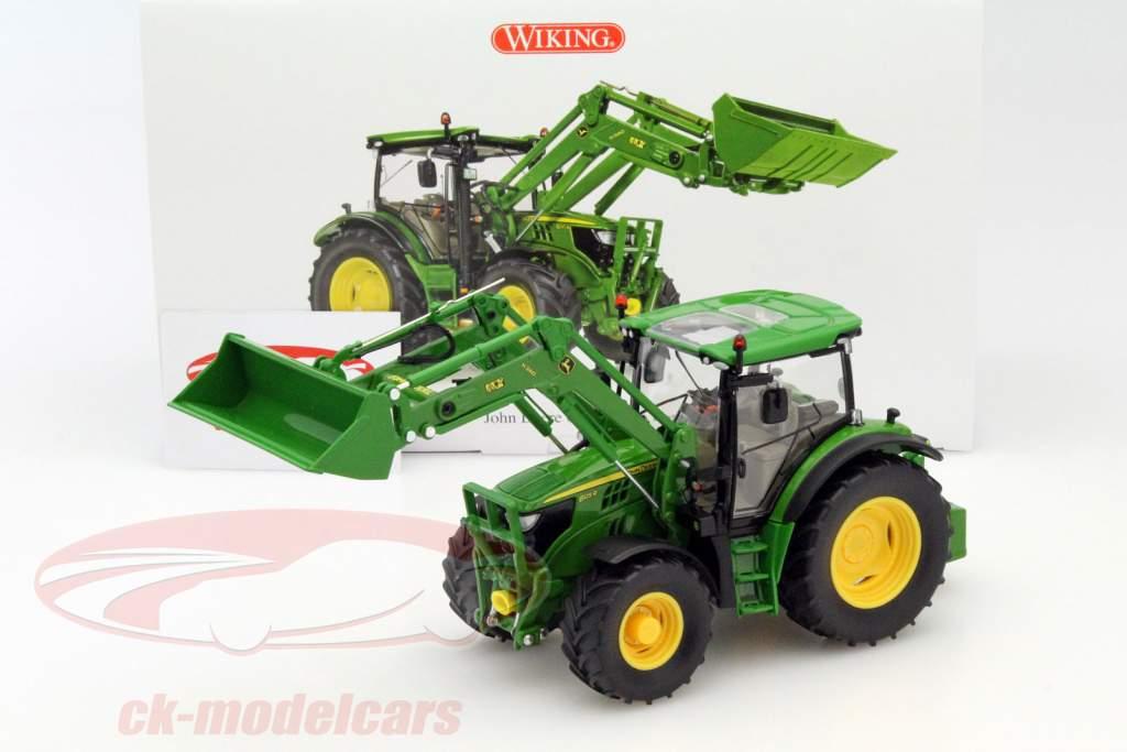 Ck modelcars john deere r traktor mit frontlader grün