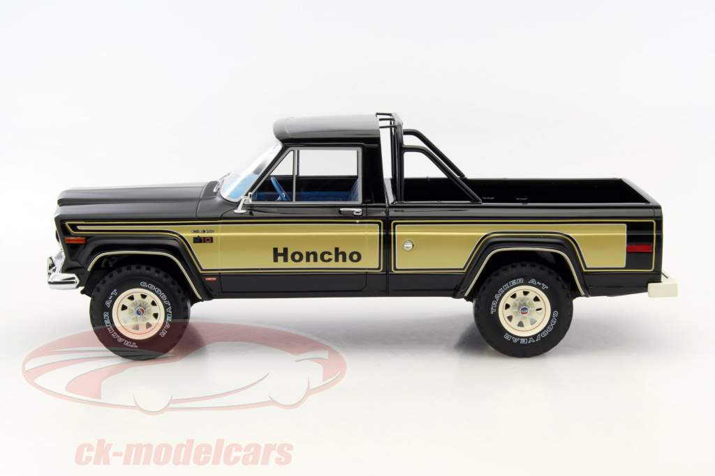 ck modelcars bos264 jeep j10 honcho year 1976 black gold 1 18 bos models ean 213740. Black Bedroom Furniture Sets. Home Design Ideas
