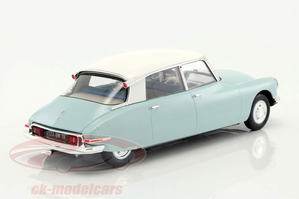 Citroen DS 19 year 1959 light blue / white 1:18 Norev