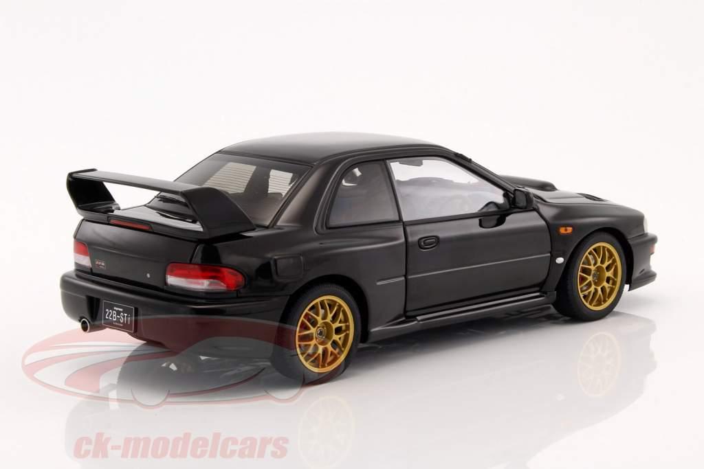 Subaru Impreza 22B Year 1998 black metallic 1:18 AUTOart