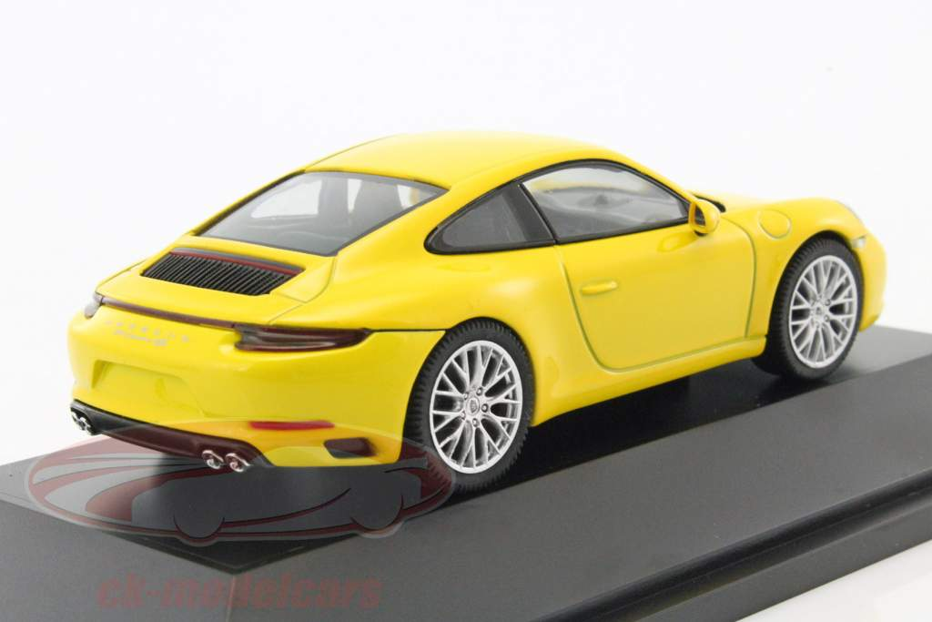 Porsche 911 (991) Carrera 4S Coupe yellow 1:43 Herpa
