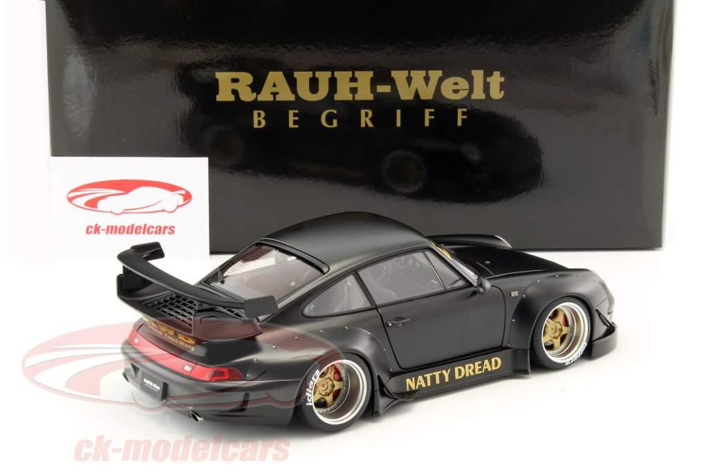 Porsche 911 (993) RWB frosted black 1:18 AUTOart