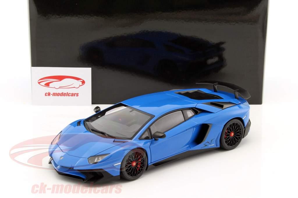 Lamborghini Aventador LP750 4 SV Ano De Construção 2015 Azul 1:18 AUTOart