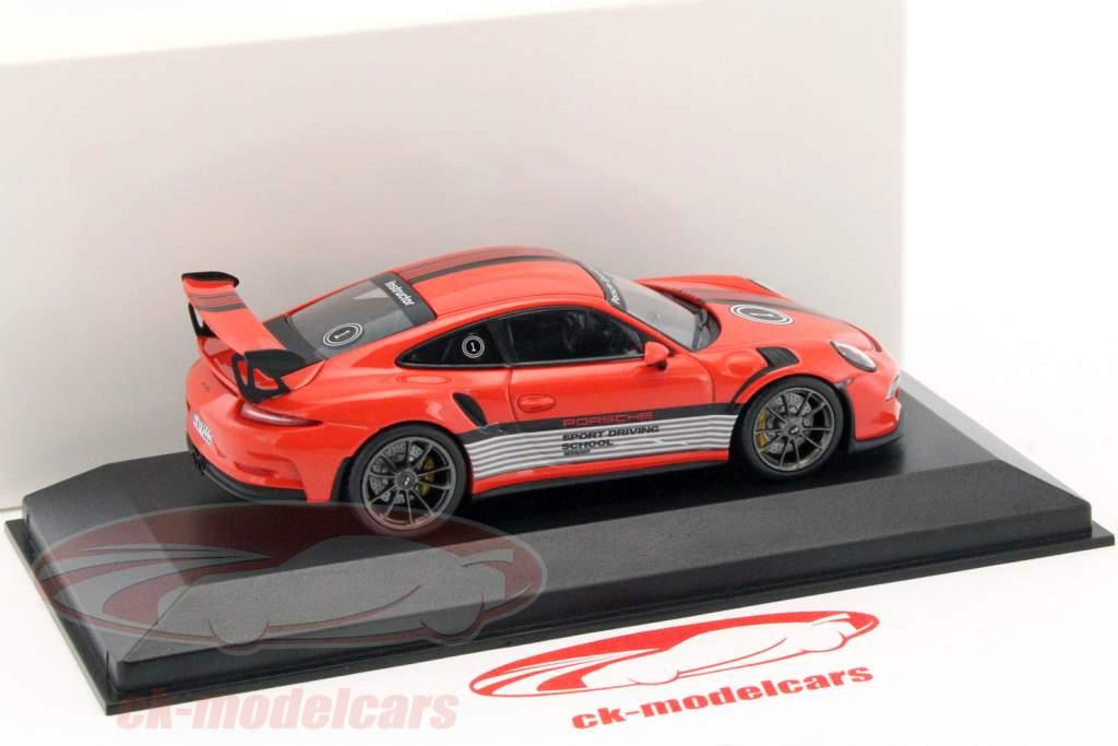 Porsche 911 (991) GT3 RS Porsche Sport Driving School Instructor 2014 lava orange 1:43 Minichamps