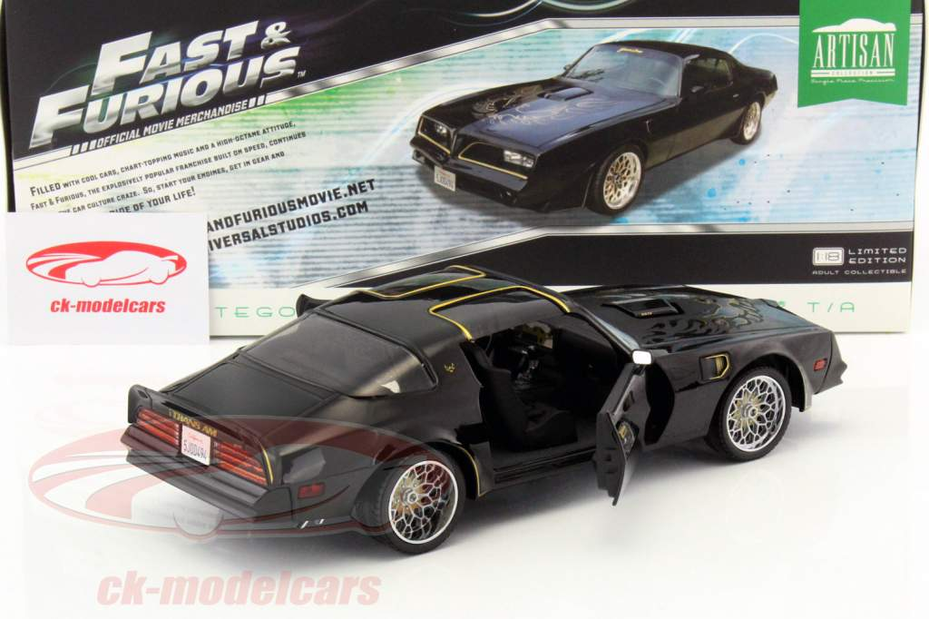 Tego's Pontiac Firebird Trans Am year 1978 Movie Fast & Furious IV 2009 black 1:18 Greenlight