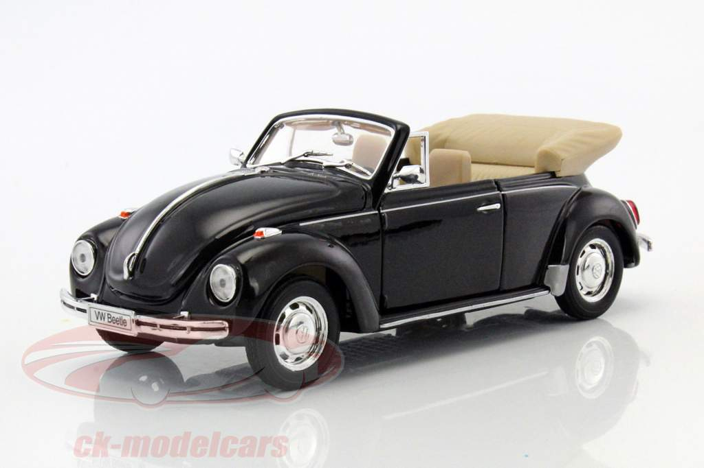 ck modelcars 22091bk volkswagen vw beetle convertible baujahr 1960 schwarz 1 24 welly ean. Black Bedroom Furniture Sets. Home Design Ideas