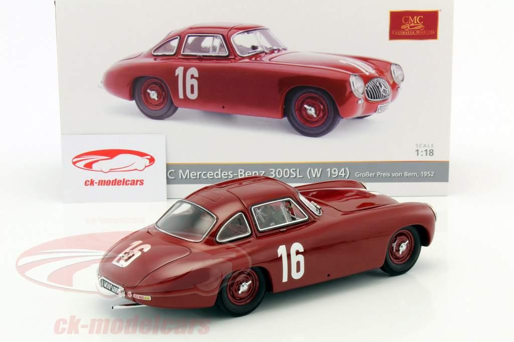 Mercedes-Benz 300 SL (W194) #16 GP Bern 1952 Caracciola 1:18 CMC