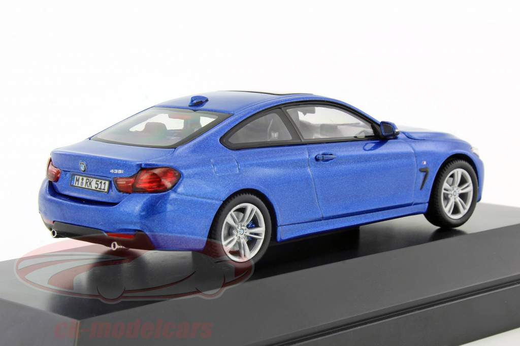 ck modelcars 80 42 2 318 858 bmw 4 series 4er coupe f32 year 2013 estoril blue 1 43 iscale. Black Bedroom Furniture Sets. Home Design Ideas