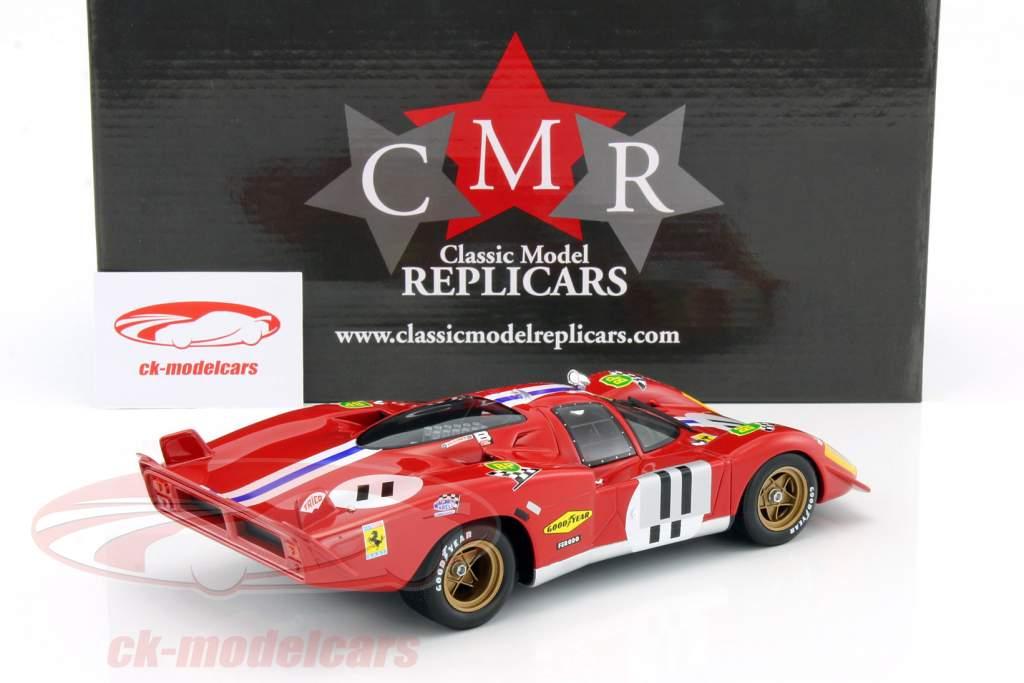 Ferrari 512S #11 4th 24h LeMans 1970 Bucknum, Posey 1:18 CMR