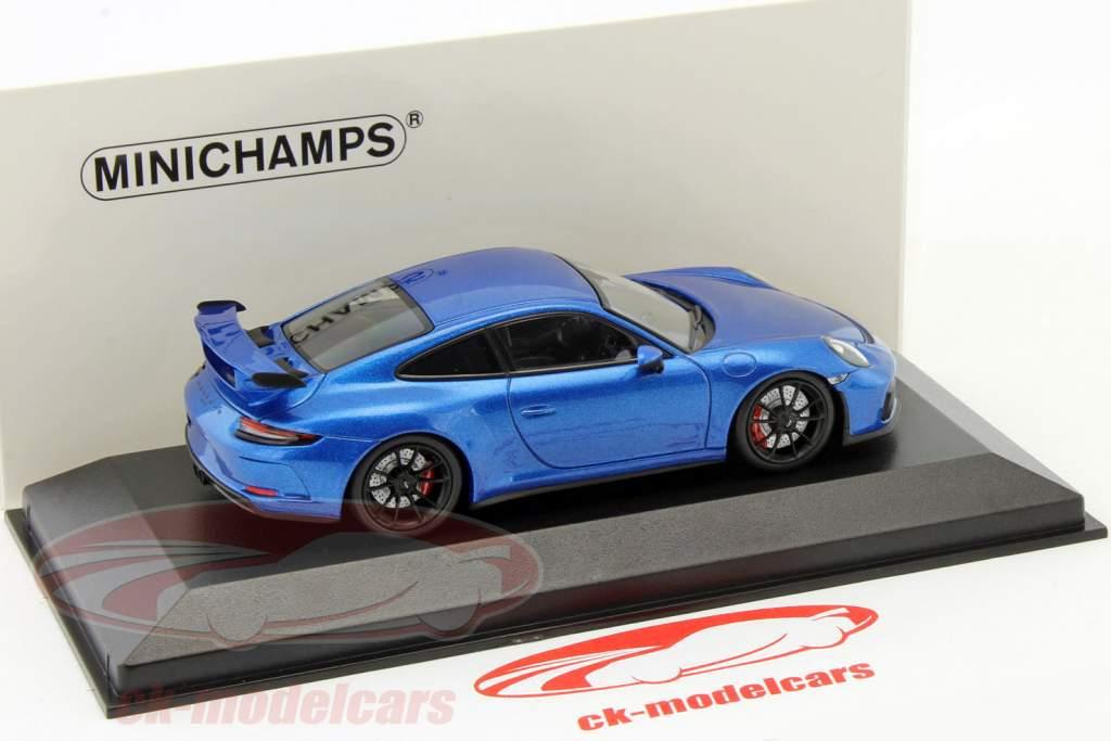 Porsche 911 (991) GT3 MK II year 2017 blue metallic 1:43 Minichamps