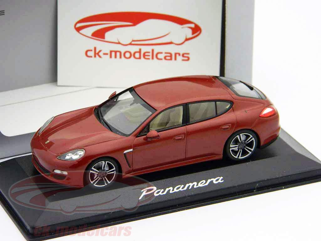 ck modelcars wap 020 00 119 porsche panamera red metallic 1 43 minichamps. Black Bedroom Furniture Sets. Home Design Ideas