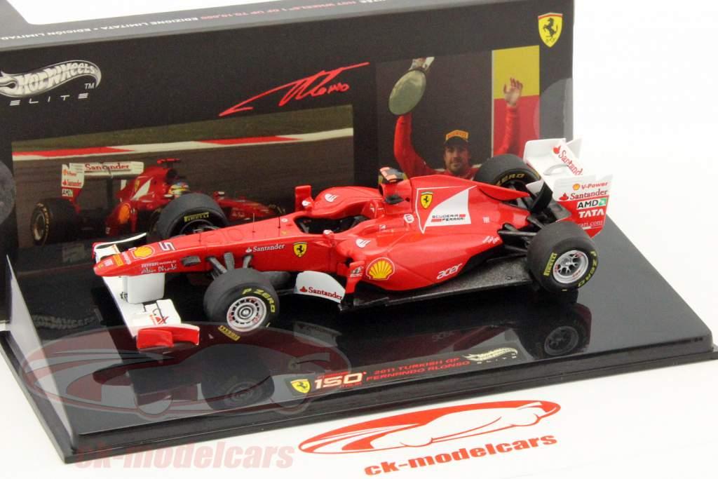 F. Alonso Ferrari 150° Italia GP Turkish GP formula1 2011 1:143 HotWheels Elite