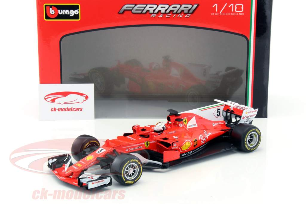 Sebastian Vettel Ferrari SF70H #5 formula 1 2017 1:18 Bburago