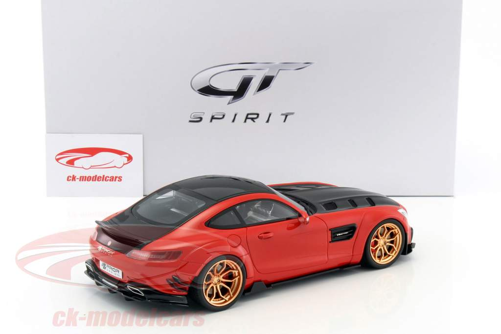 Mercedes-Benz AMG GT modified by Prior Design red / black 1:18 GT-SPIRIT