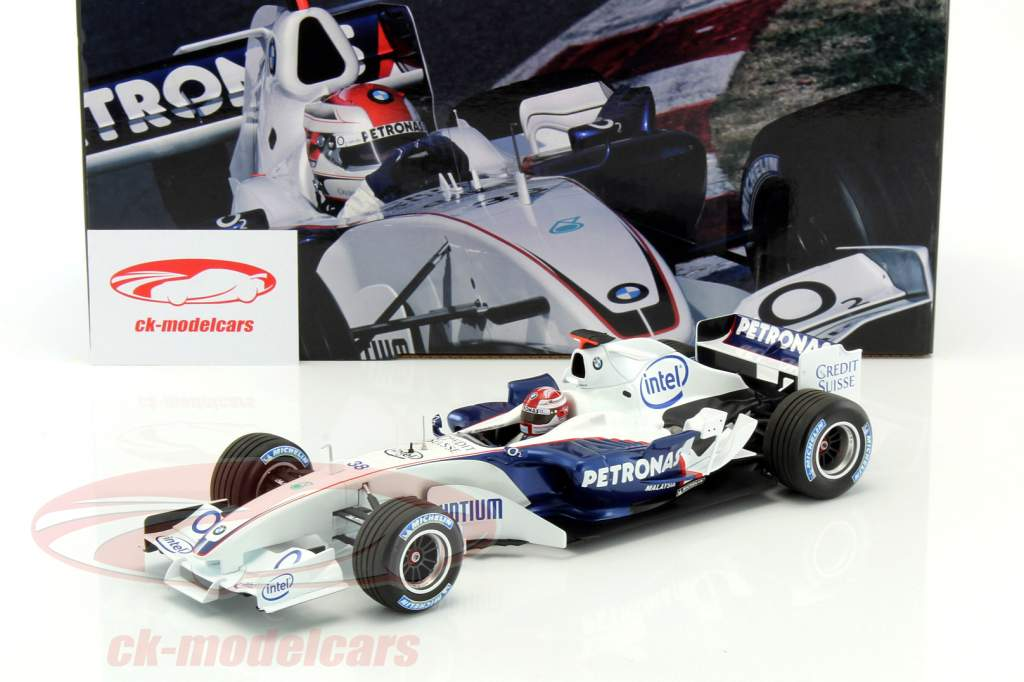 r kubica bmw sauber c24b 38 formel 1 test valencia 2006. Black Bedroom Furniture Sets. Home Design Ideas