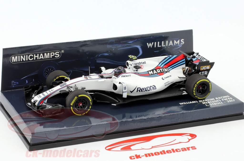 L. Stroll #18 Williams FW40 Martini Racing formule 1 2017 1:43 Minichamps