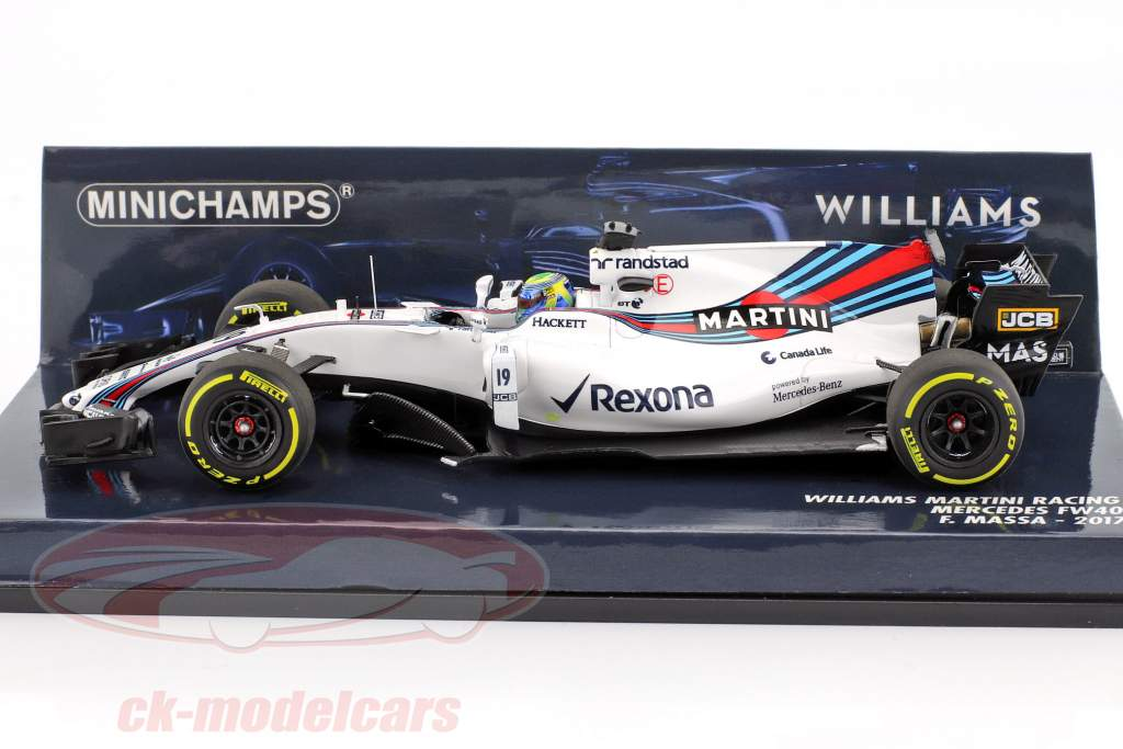 F. Massa #19 Williams FW40 Martini Racing Formel 1 2017 1:43 Minichamps