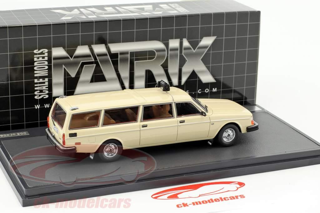 Volvo 245 Transfer Taxi Baujahr 1978 creme weiß 1:43 Matrix