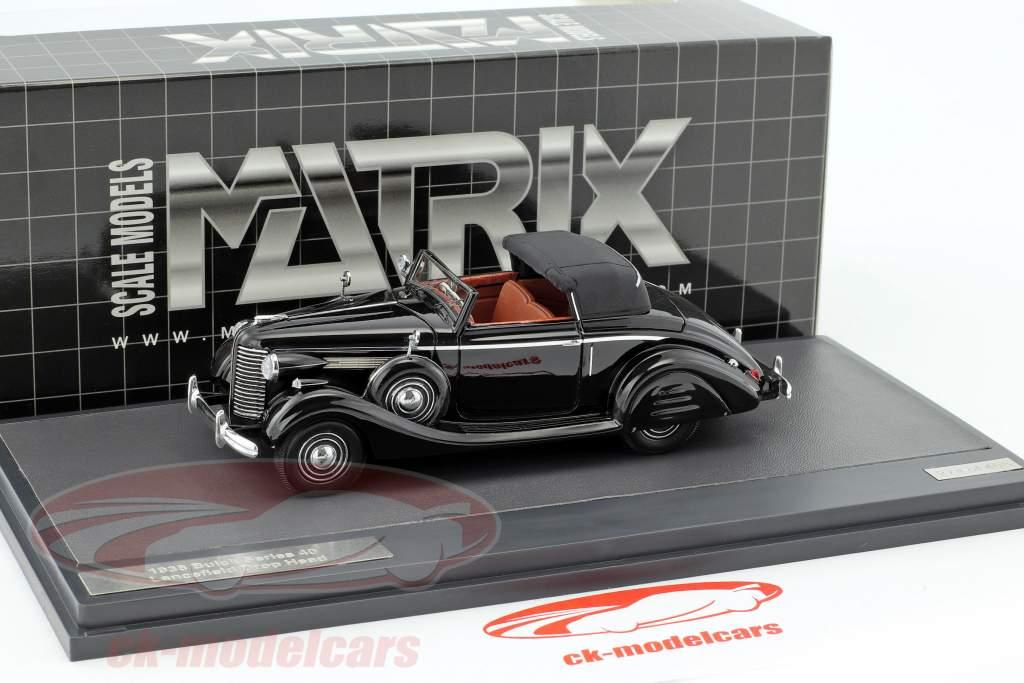 Buick Series 40 Lancefield Drop Head anno di costruzione 1938 nero 1:43 Matrix