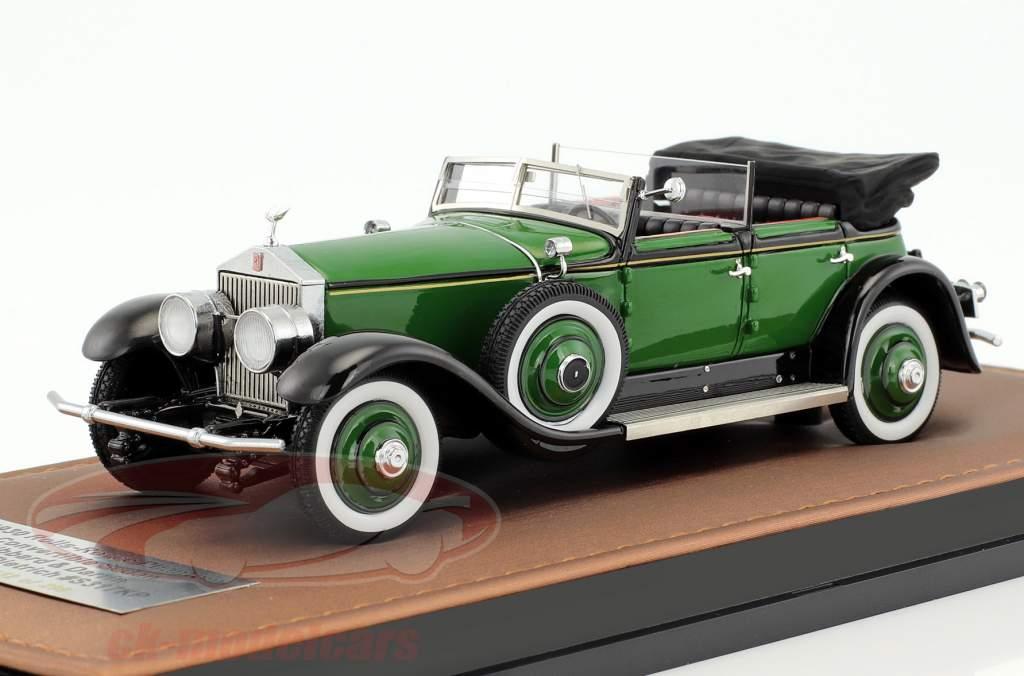 Rolls-Royce Phantom Marlene Dietrich Hibbard & Darrin Cabriolet Open Top Baujahr 1930 grün 1:43 GLM