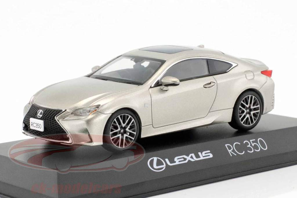 Lexus RC 350 F Sport titanium silber metallic 1:43 Kyosho
