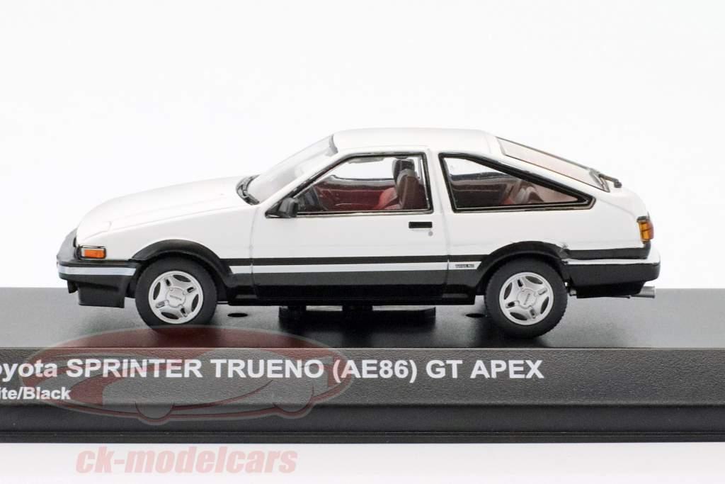 Toyota Sprinter Trueno (AE86) blanc / noir 1:43 Kyosho