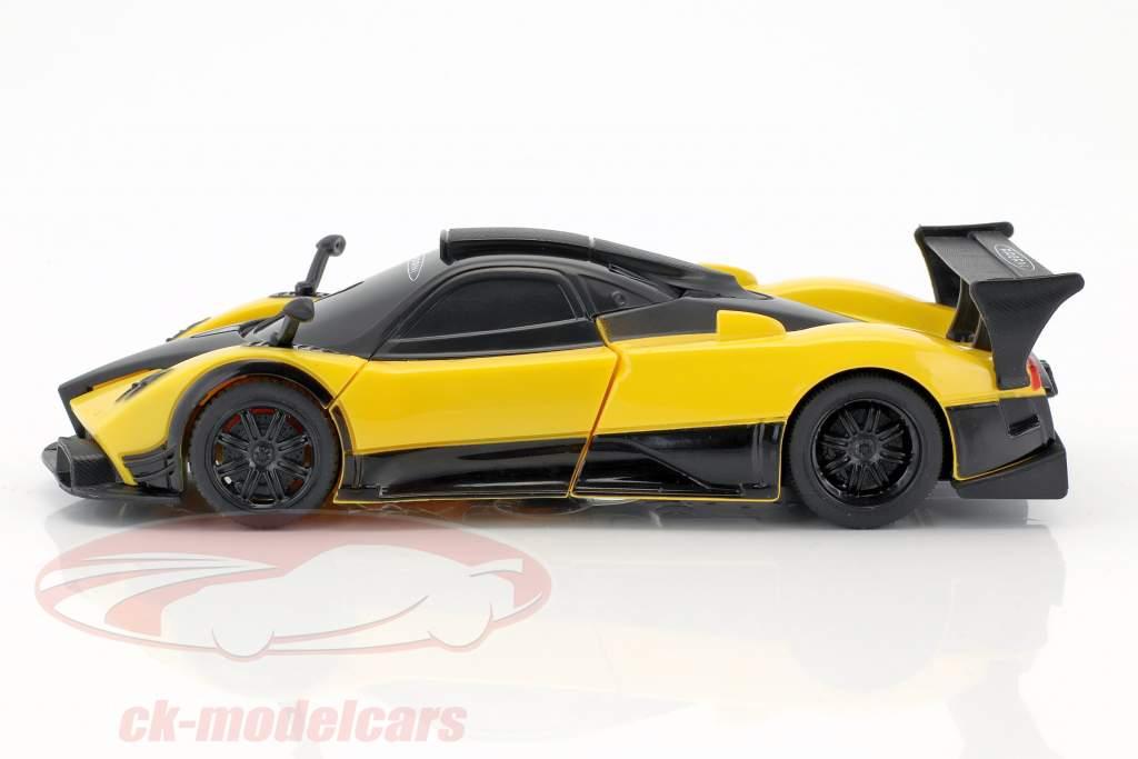 Pagani Zonda R Transformable Car année de construction 2015 jaune 1:32 Rastar