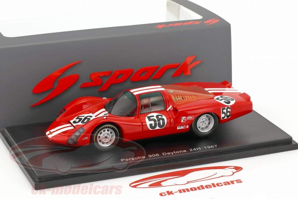 Porsche 906 #56 24h Daytona 1967 Vögele, Habegger 1:43 Spark