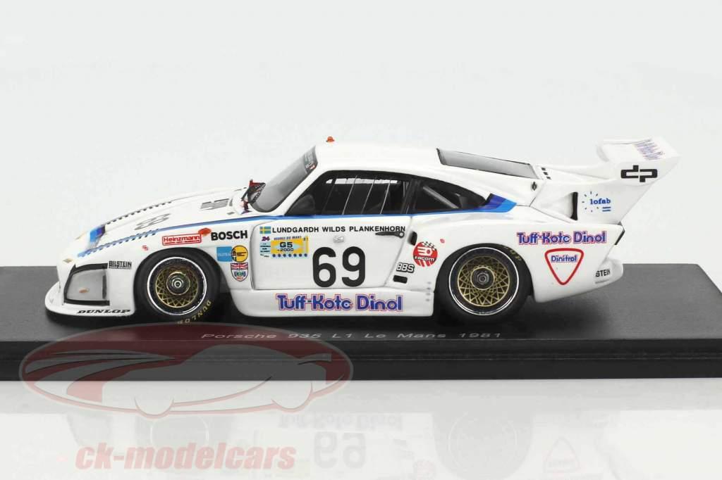 Porsche 935 L1 #69 24h LeMans 1981 Lundgardh, Plankenhorn, Wilds 1:43 Spark