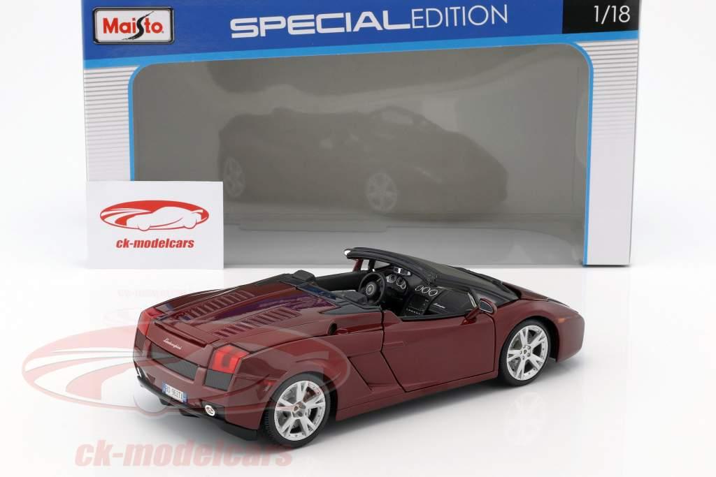 Lamborghini Gallardo Spyder dark red 1:18 Maisto