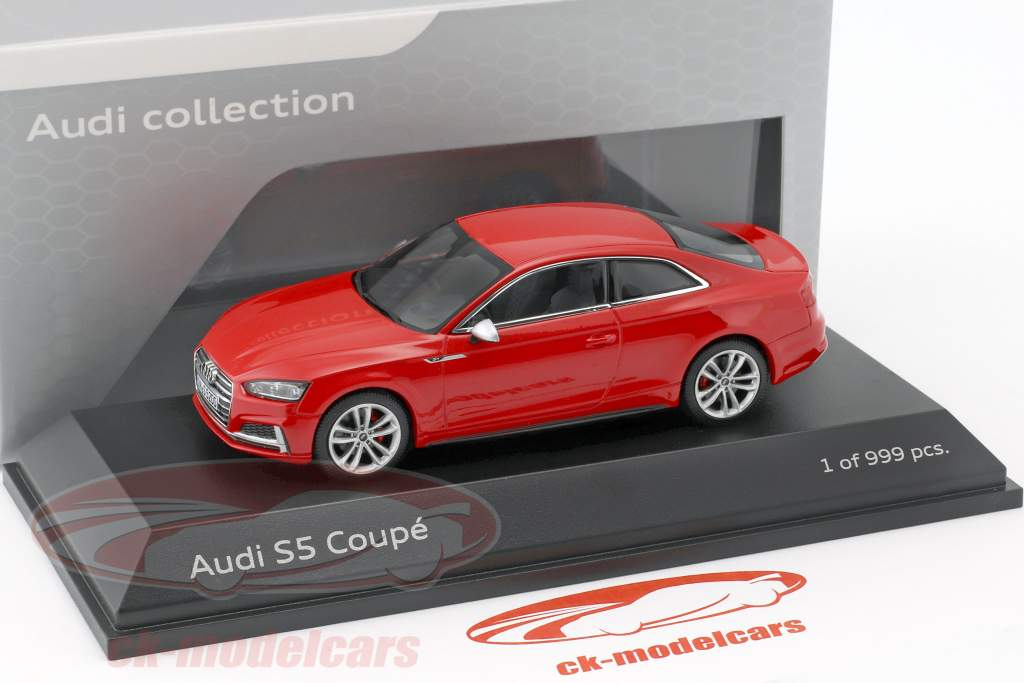 Audi S5 Coupe year 2016 misano red 1:43 Paragon Models