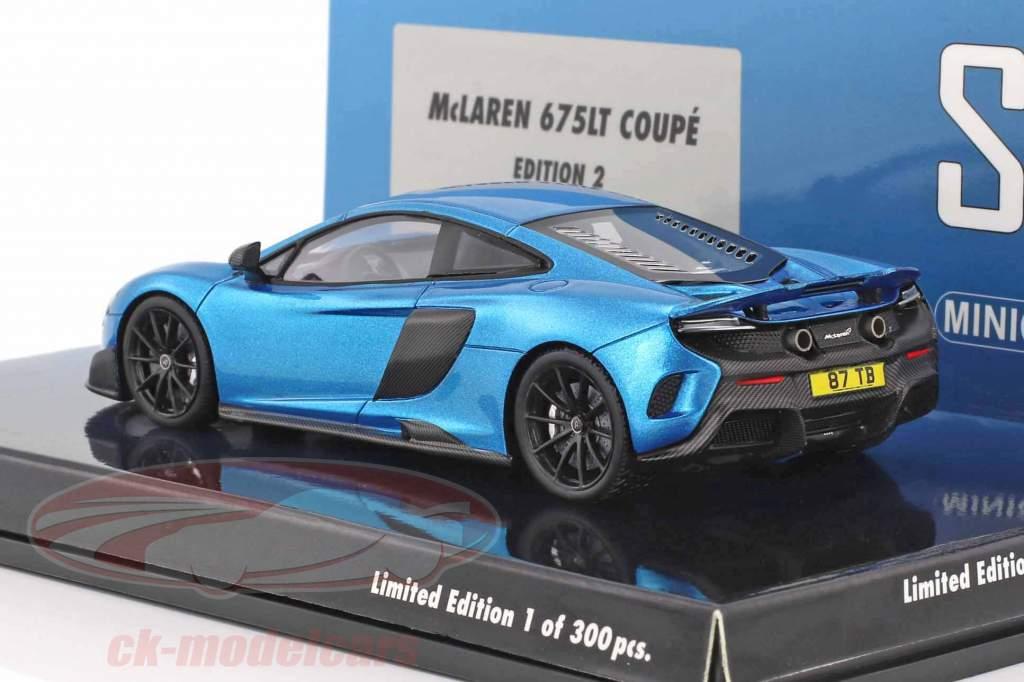 McLaren 675LT Coupe Shmee150 cerulean blau 1:43 Minichamps