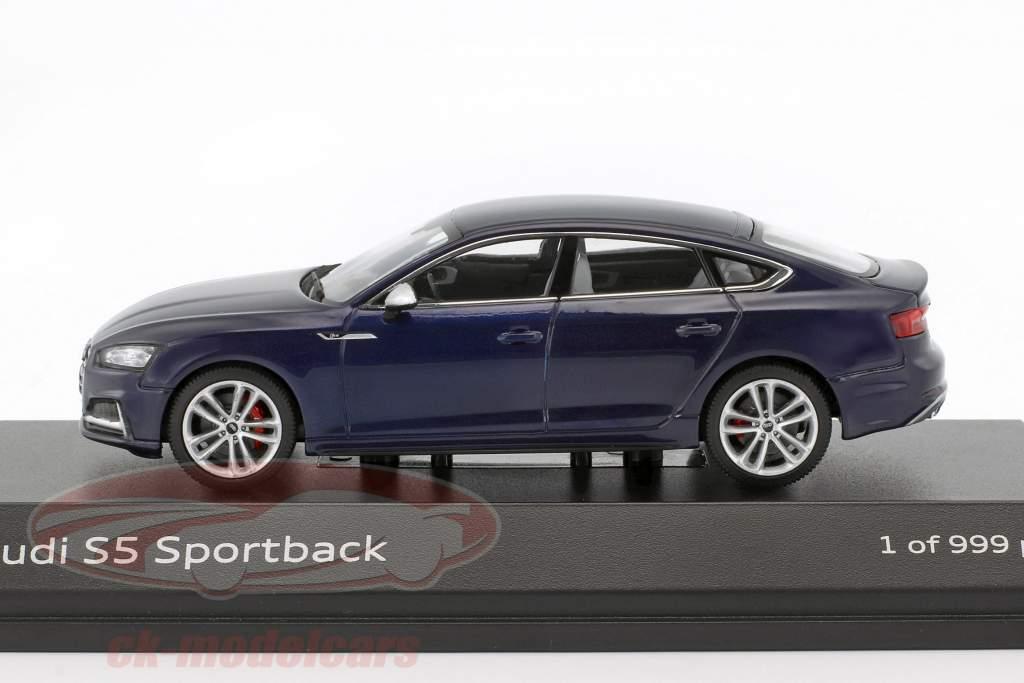 Audi S5 Sportback year 2016 navarra blue 1:43 Paragon Models