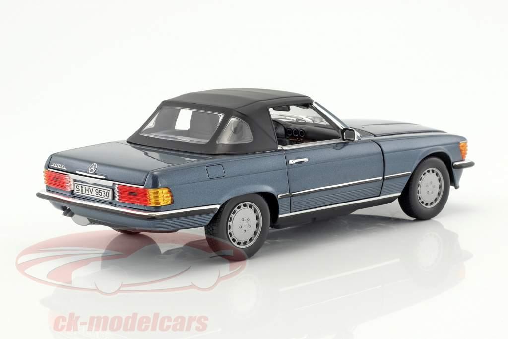 Mercedes-Benz 300 SL (R107) anno di costruzione 1985-89 lapis blu metallico 1:18 Norev