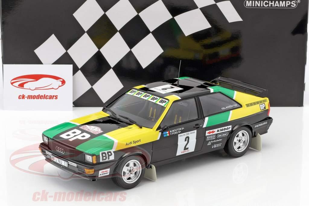 Audi Quattro #2 rassemblement des 1000 Pistes 1981 Mouton / Pons 1:18 Minichamps