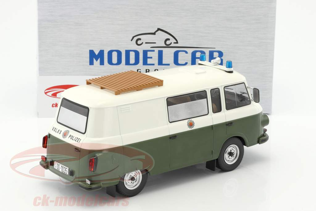 Barkas B 1000 half-bus police 1:18 Model Car Group