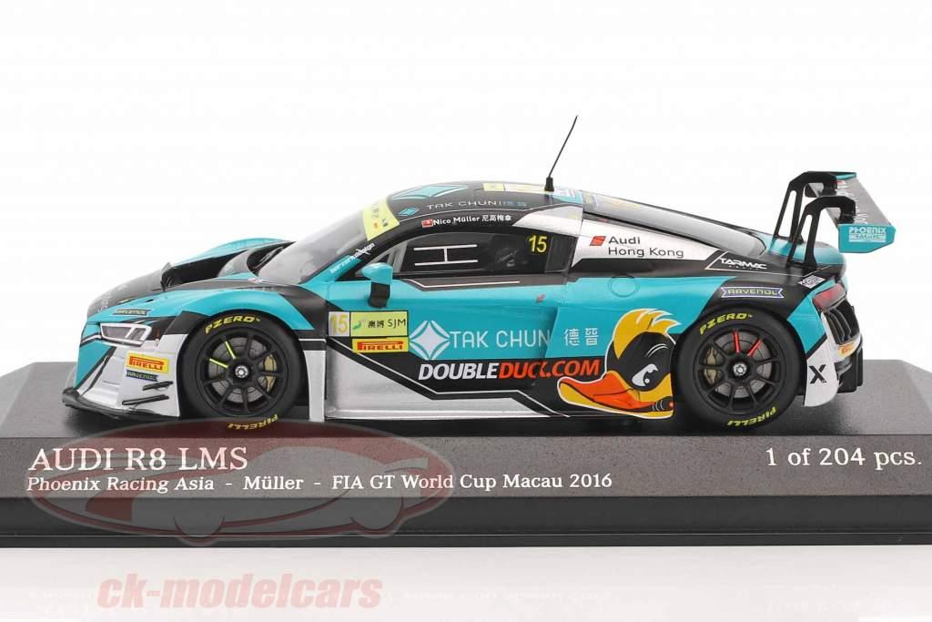 Audi R8 LMS #15 FIA GT World Cup Macau 2016 Müller 1:43 Minichamps