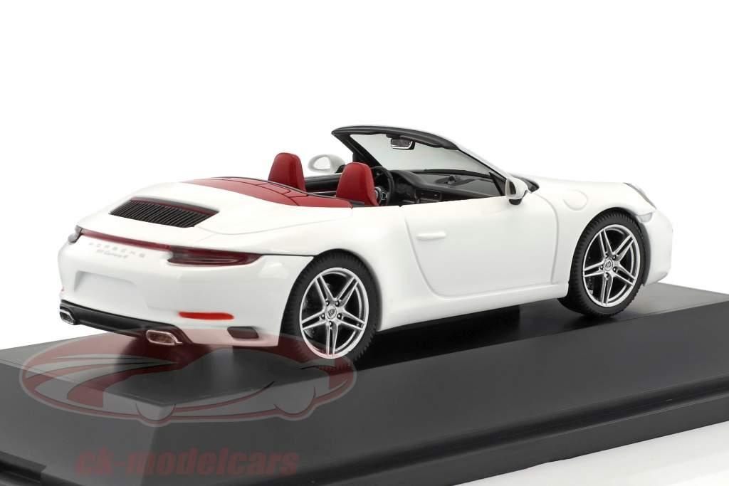 Porsche 911 (991) Carrera 4 cabriolet blanc 1:43 Herpa