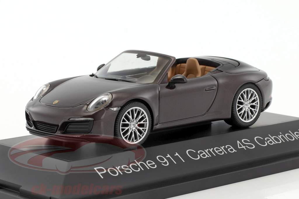 Porsche 911 (991) Carrera 4S Cabriolet brown metallic 1:43 Herpa