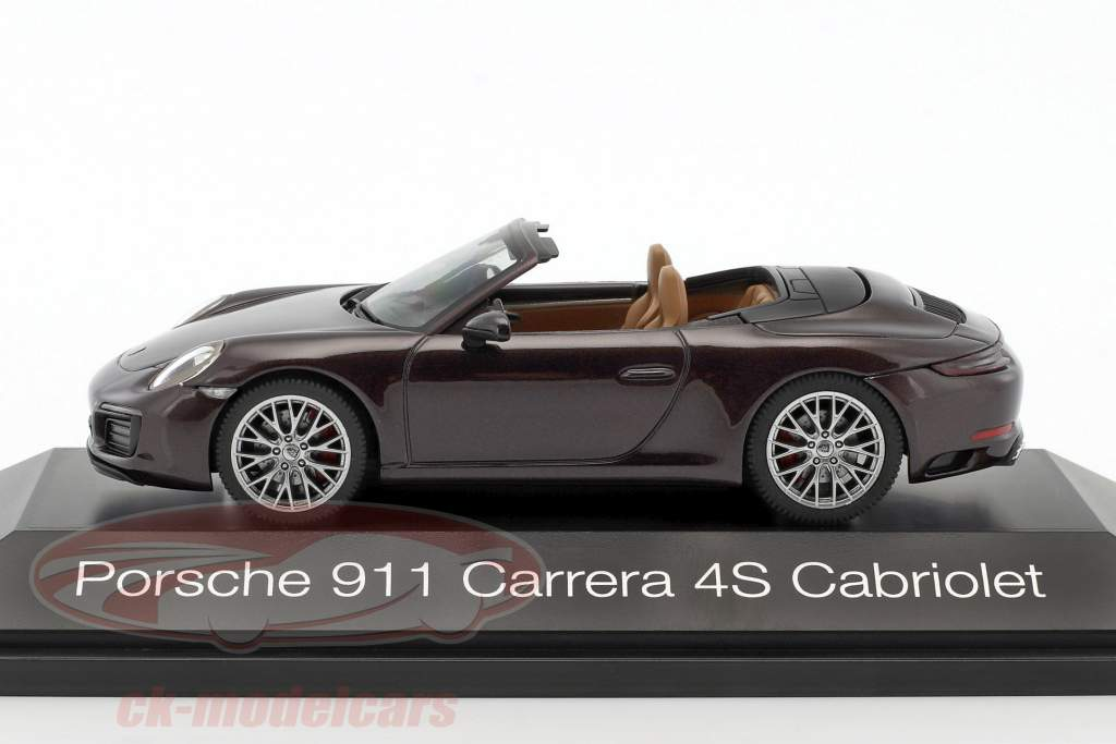 Porsche 911 (991) Carrera 4S cabriolet marrone metallico 1:43 Herpa