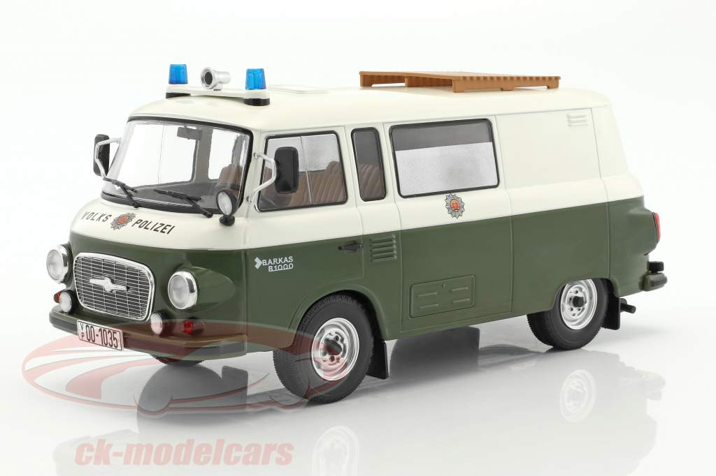 Barkas B 1000 demi-bus police 1:18 Model Car Group