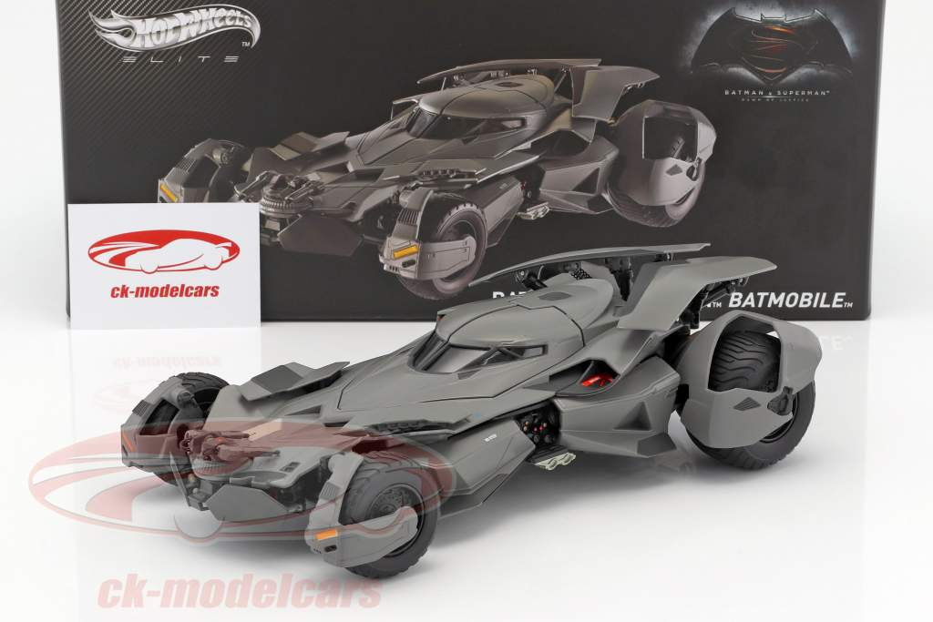 Batmobile Movie Batman V Superman: Dawn Of Justice 2016 black 1:18 HotWheels Elite