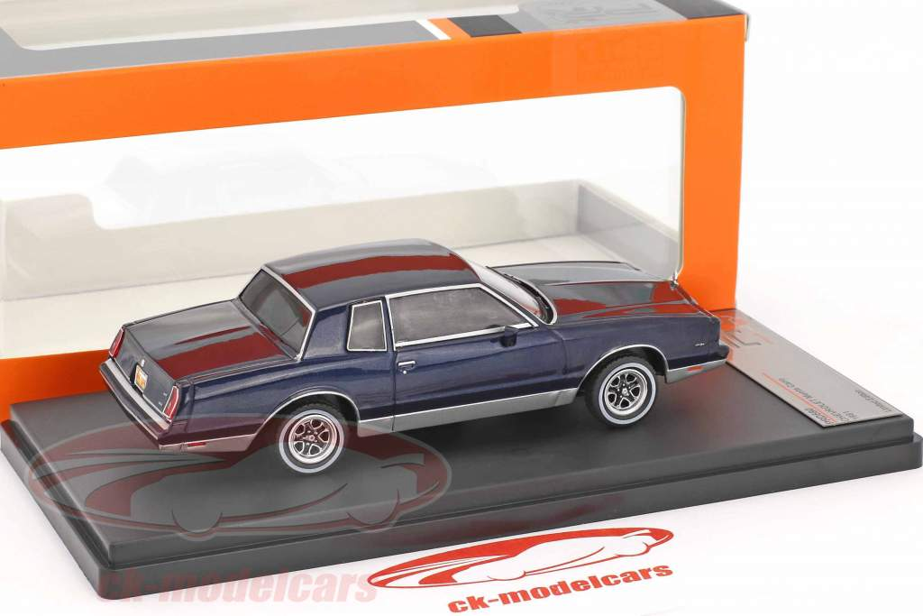 Chevrolet Monte Carlo year 1981 dark blue 1:43 Premium X