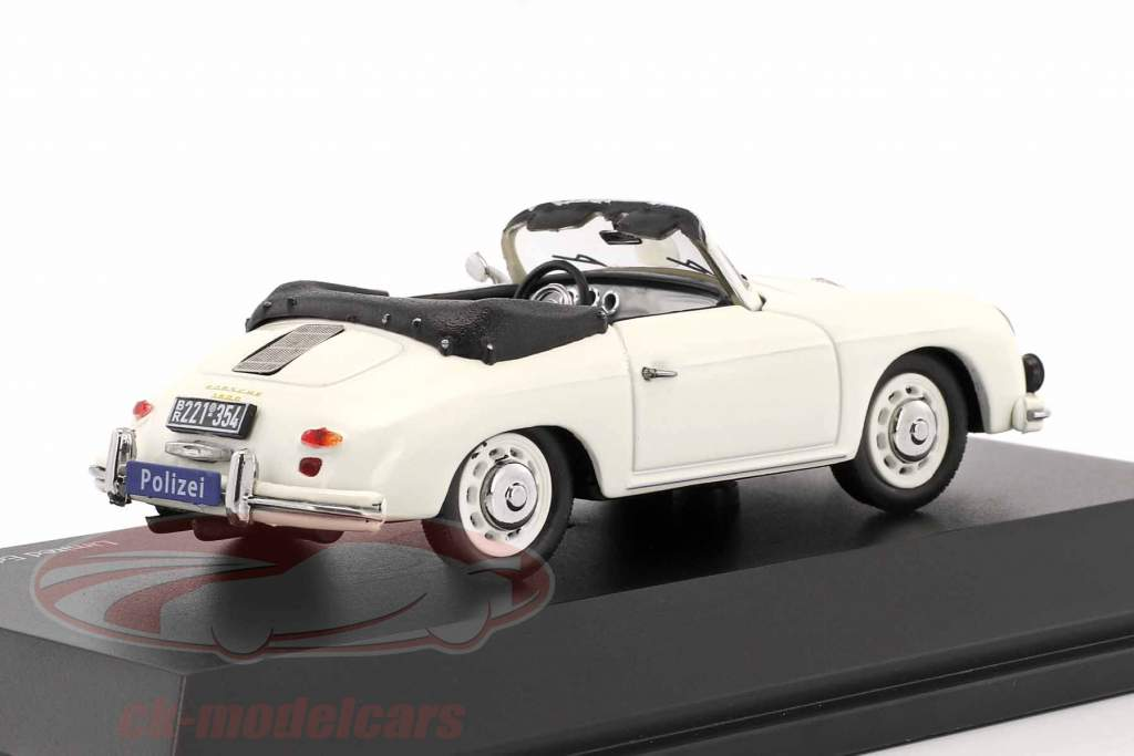 Porsche 356A Cabriolet Polizei weiß 1:43 Schuco