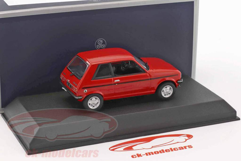 Peugeot 104 ZS year 1979 persan red 1:43 Norev