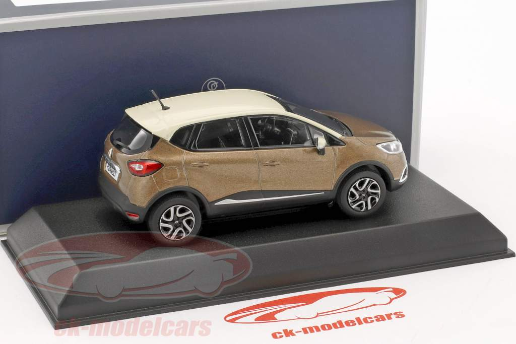 Renault Captur year 2013 brown metallic / ivory 1:43 Norev