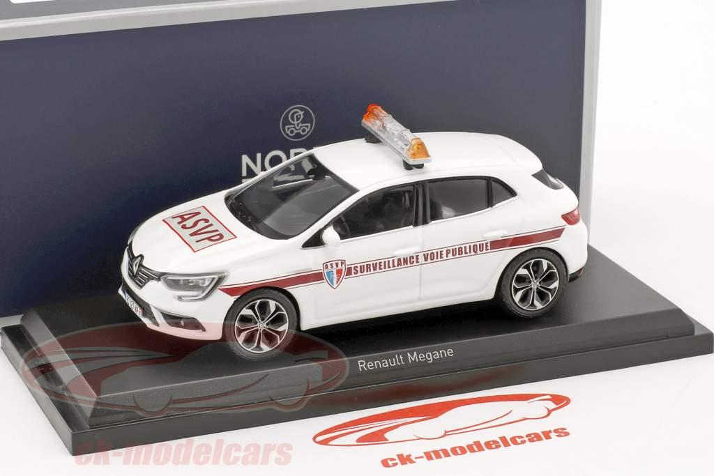 Renault Mégane ASVP année de construction 2016 blanc 1:43 Norev