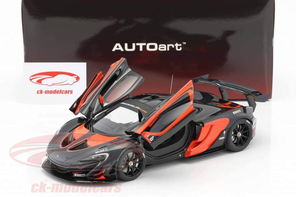 McLaren P1 GTR year 2015 black / orange 1:18 AUTOart